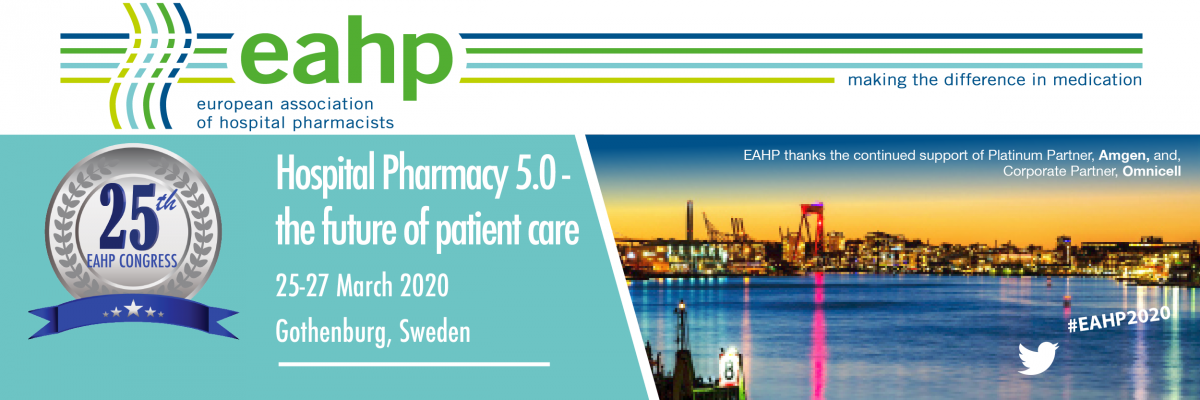25th Congress of the EAHP - Hospital Pharmacy 5 0 - the