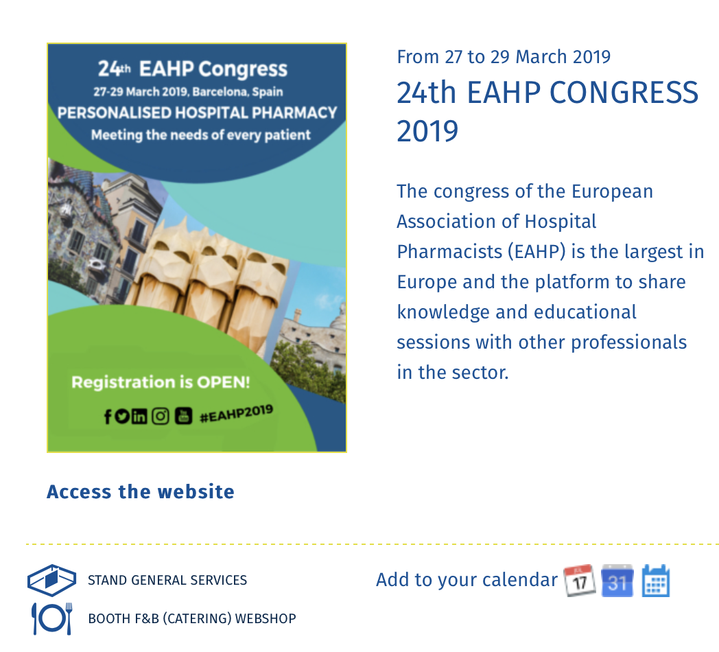 European Association of Hospital Pharmacists | making the